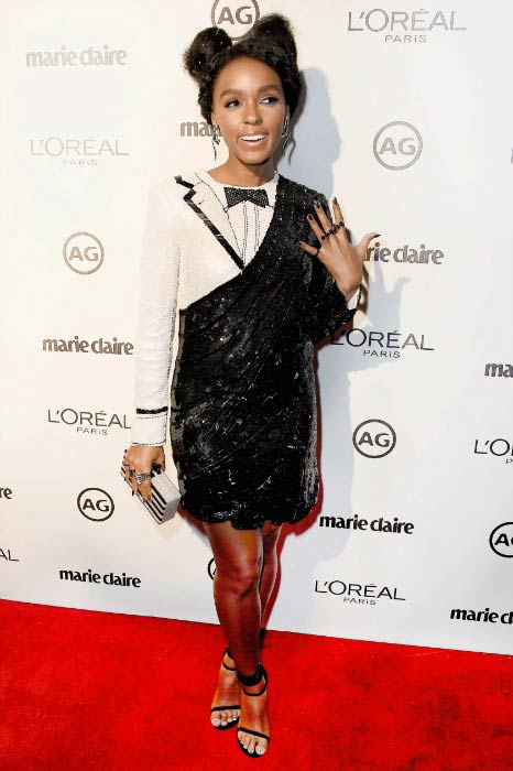 Janelle Monae at the Marie Claire's Image Maker Awards in January 2017