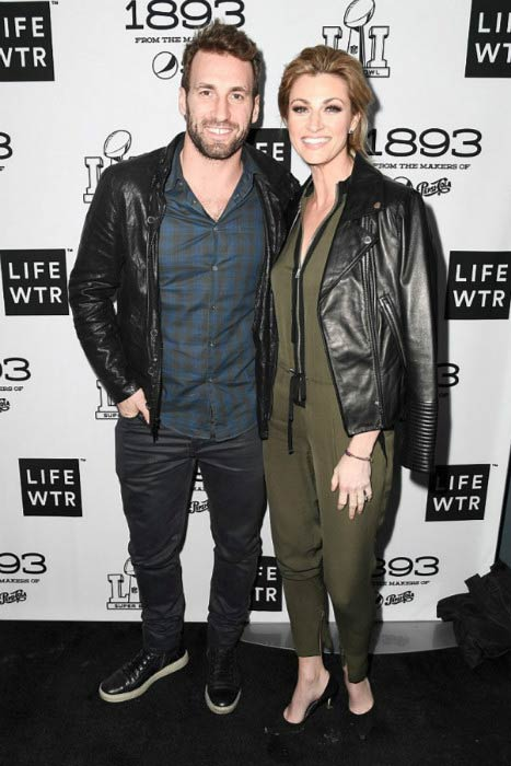 Jarret Stoll and Erin Andrews during Super Bowl LI Weekend in February 2017