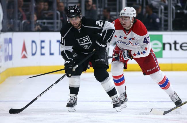 Jarret Stoll of the Los Angeles Kings during a match with the Washington Capitals in February 2015