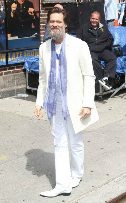 Jim Carrey on the Late Show With David Letterman in New York City in May 2015