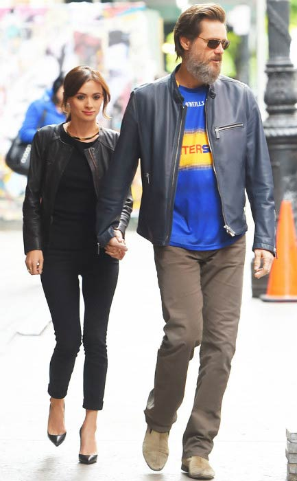 Jim Carrey and his ex-girlfriend Cathriona White during an outing