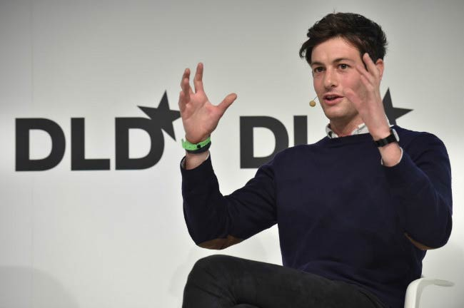 Joshua Kushner interacts with audience at the DLD Conference in Munich in February 2015