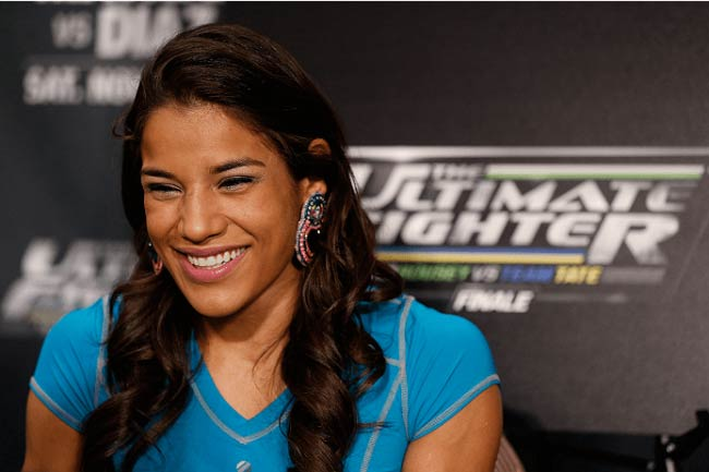 Julianna Pena during The Ultimate Fighter event in 2015