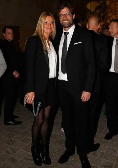 Jurgen Klopp and Ulla Sandrock at the Borussia Dortmund Champions Party in 2014