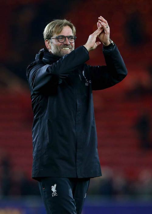 Jurgen Klopp at the match between Middlesbrough and Liverpool in December 2016