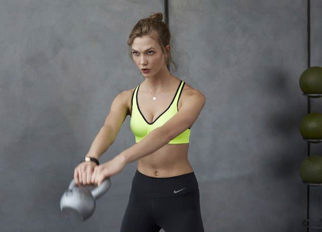 Karlie Kloss kettlebell workout