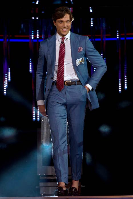 Lewis Bloor enters during the launch of Celebrity Big Brother in July 2016
