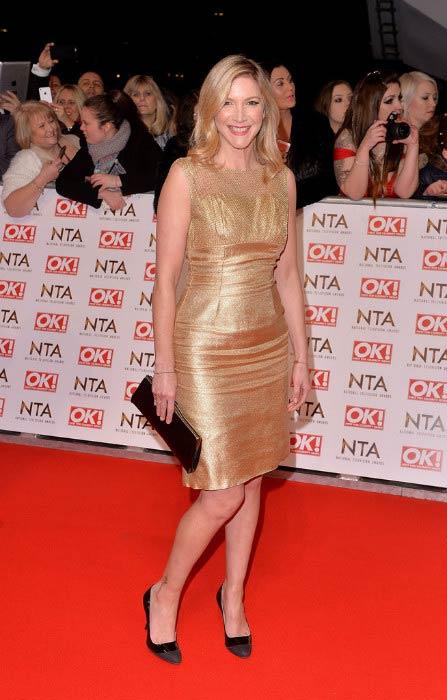 Lisa Faulkner at the 2015 National Television Awards