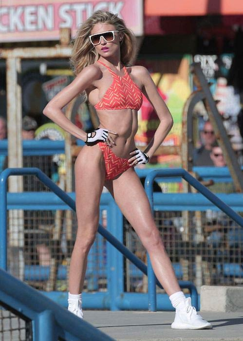 Martha Hunt during a photoshoot in Santa Monica in February 2017