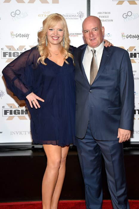 Melissa Peterman and John Brady at the Muhammad Ali's Celebrity Fight Night XXI in March 2015