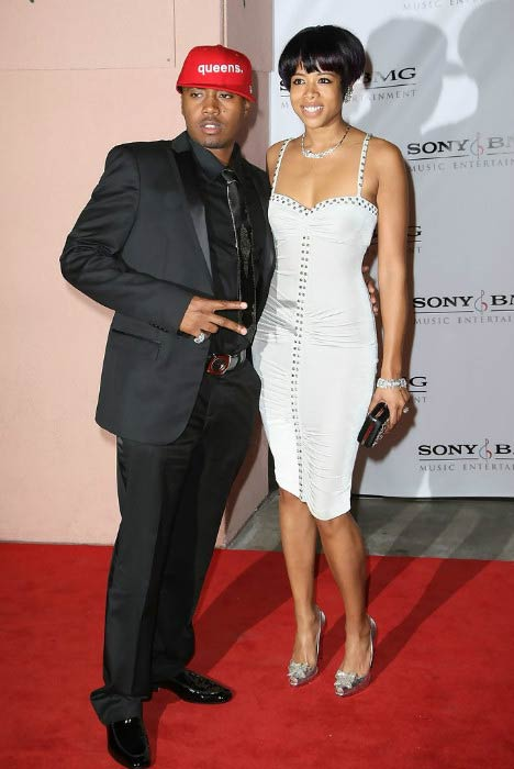 Nas and Kelis at the Entertainment Weekly Grammy After Party in February 2008