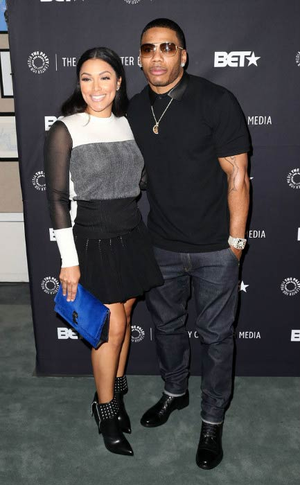 Nelly and Shantel Jackson at An Evening with Real Husbands of Hollywood event in October 2014