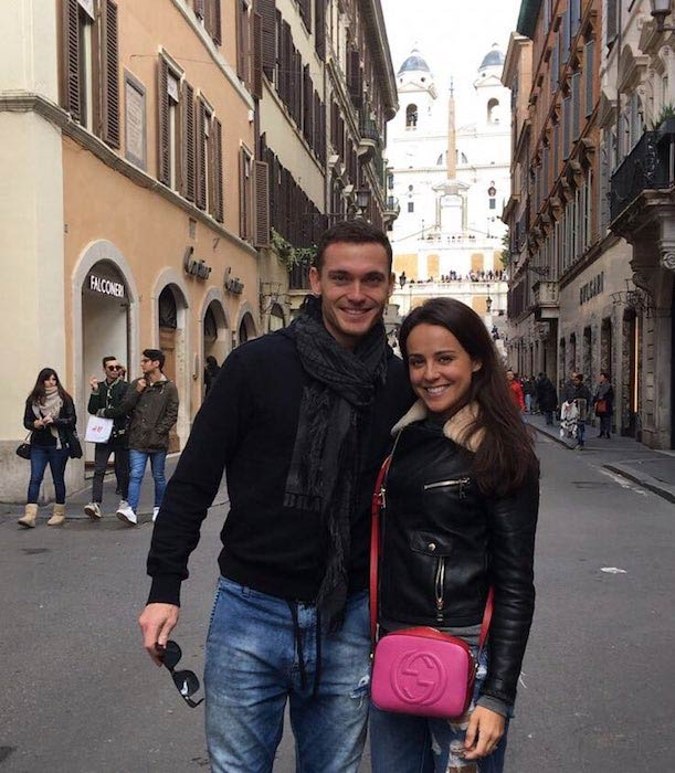 Polly Parsons and husband Thomas Vermaelen on Valentine's Day on February 14 2017