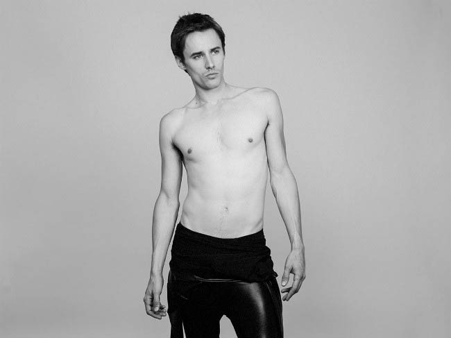 Reeve Carney posing for New Tyler Shields photoshoot