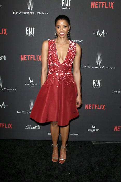Renee Elise Goldsberry at The Weinstein Company and Netflix Golden Globe Party in January 2017