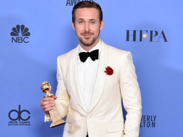 Ryan Gosling during Golden Globes 2017