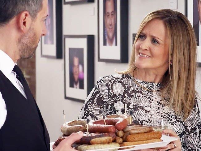 Samantha Bee with bagels