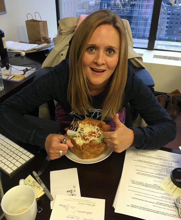 Samantha Bee with her healthy diet