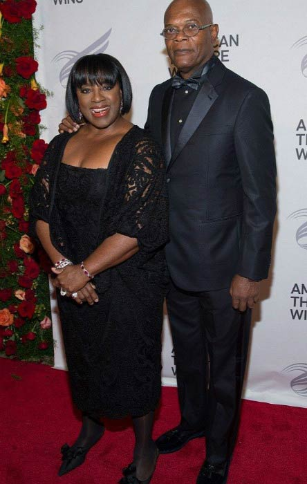 Samuel L. Jackson and LaTanya Richardson Jackson at the American Theatre Wing's Gala in September 2015