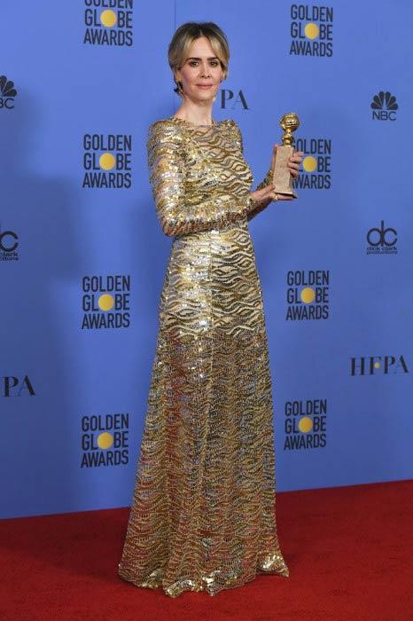 Sarah Paulson at the 2017 Golden Globe Awards