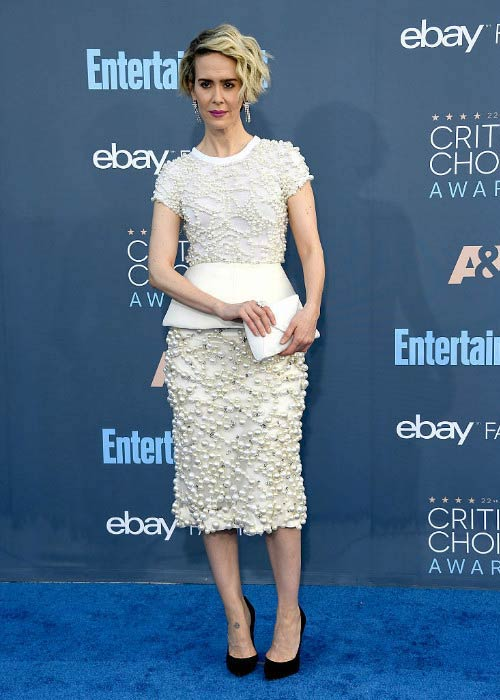 Sarah Paulson at The 22nd Annual Critics' Choice Awards in December 2016