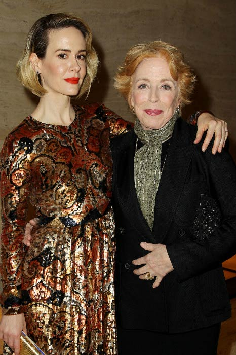 Sarah Paulson and Holland Taylor during an event in 2015