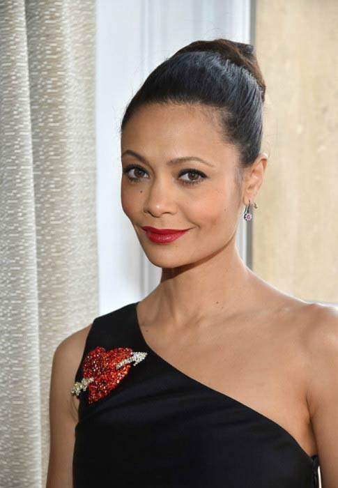 Thandie Newton at the Schiaparelli Haute Couture Spring Summer show during Paris Fashion Week in January 2017