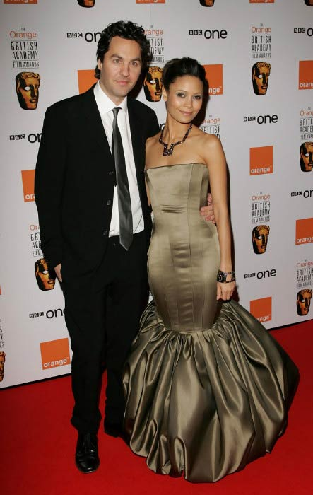 Thandie Newton and husband Ol Parker at The Orange British Academy Film Awards in February 2007