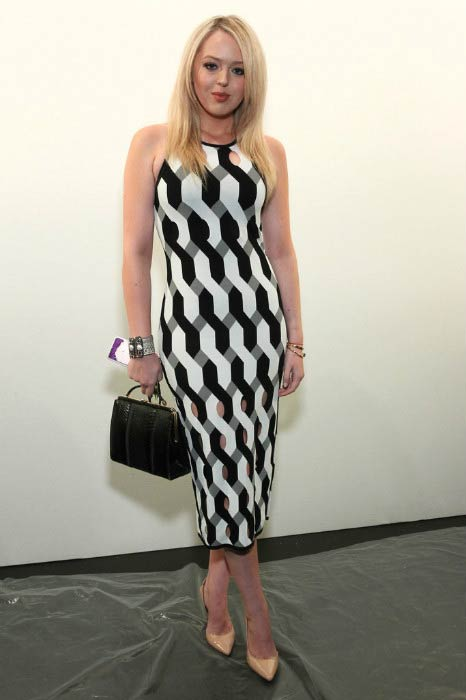Tiffany Trump at the Taoray Wang fashion show during New York Fashion Week: The Shows in September 2016
