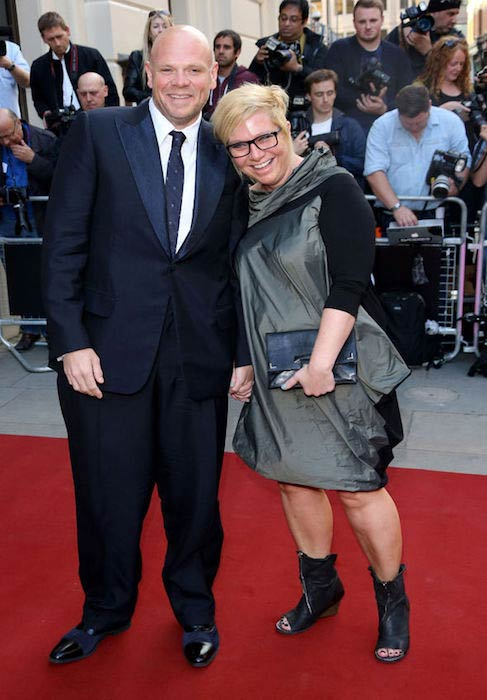 Tom Kerridge with his wife on the red carpet
