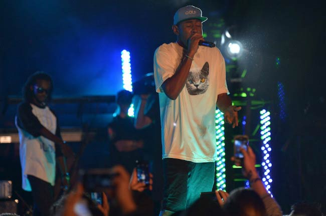 Tyler, The Creator performing onstage