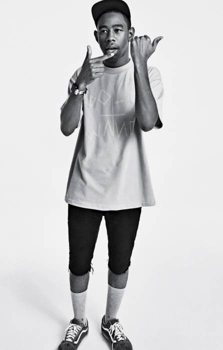 Tyler, The Creator during a photoshoot in 2015