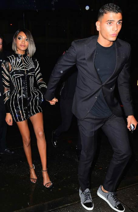 Younes Bendjima and Jourdan Dunn leaving a private party in 2016