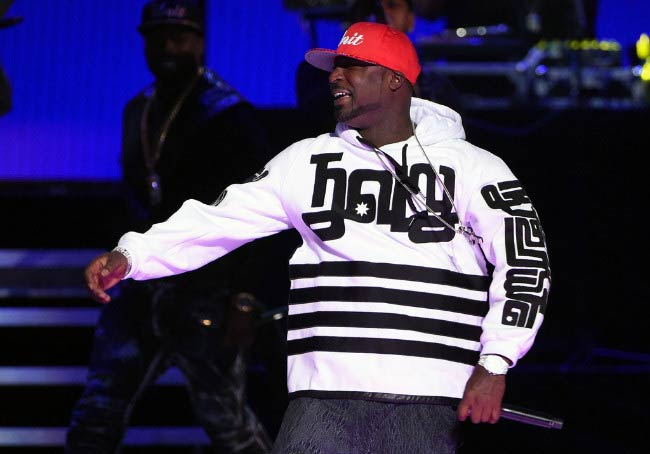 Young Buck performing onstage at the 2014 iHeartRadio Music Festival