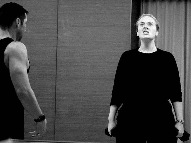 Adele training her body