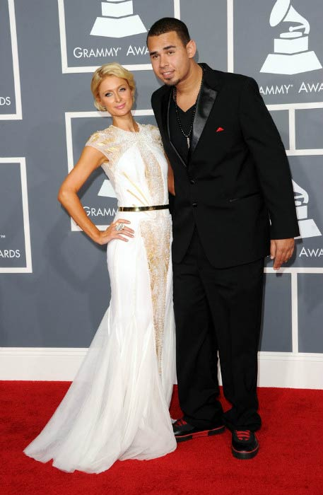 Afrojack and Paris Hilton at the 54th Annual GRAMMY Awards in February 2012
