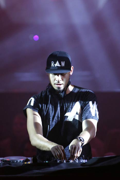 Afrojack performing onstage during the outside broadcast at the MTV EMAs in November 2013