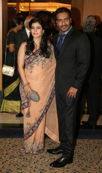 Ajay Devgan and Kajol at the British Asian Trust Reception on Day 4 in November 2013