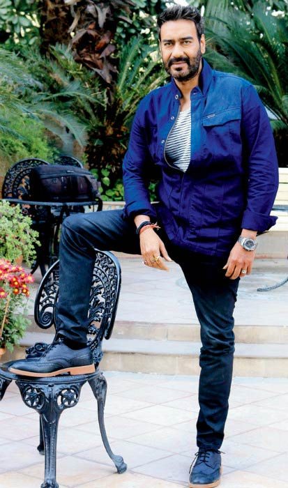 Ajay Devgan at the promotional event for Action Jackson in December 2014.