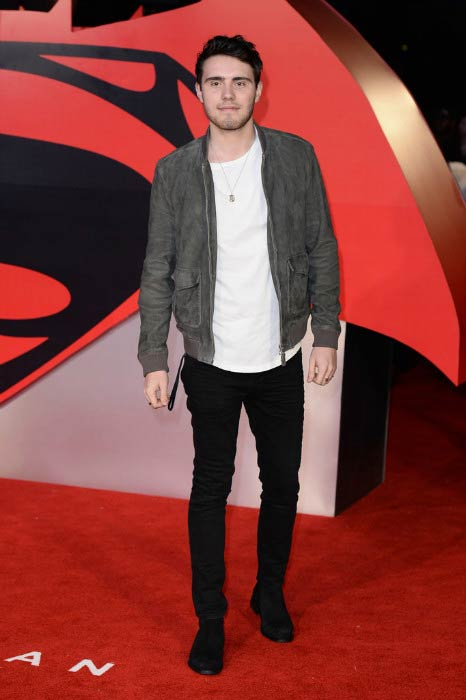 Alfie Deyes at the Batman V Superman: Dawn Of Justice European premiere in March 2016
