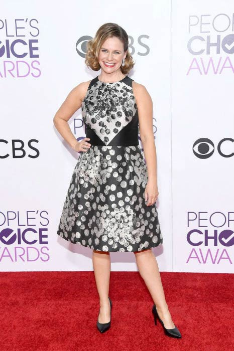 Andrea Barber at the 2017 People's Choice Awards