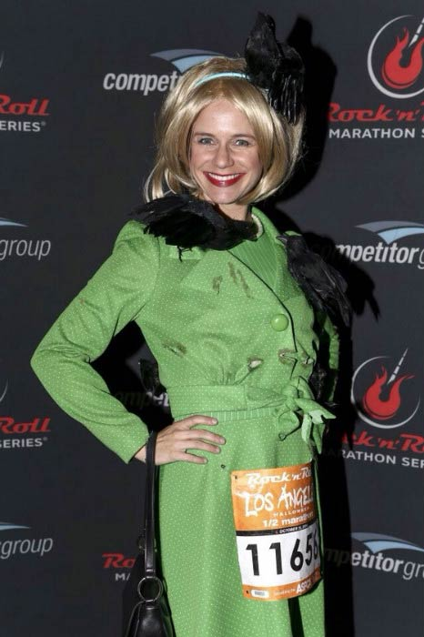 Andrea Barber during the Rock 'n' Roll Los Angeles Halloween Half-Marathon and 5K benefitting the ASPCA in October 2014