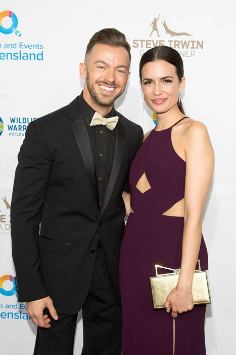 Artem Chigvintsev and Torrey DeVitto at the Steve Irwin Gala Dinner in May 2016