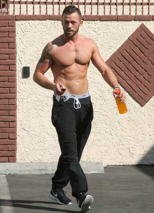 Artem Chigvintsev leaving Dancing with the Stars studios in October 2014