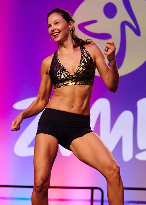 Ashley Judd at the Zumba Convention Kick-Off Session in Orlando, Florida in August 2015