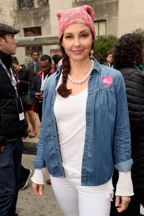 Ashley Judd during the Women's March in Washington on January 21, 2017