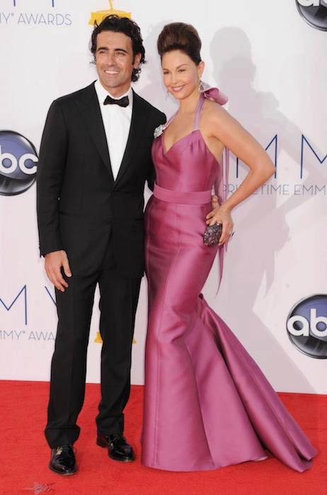 Ashley Judd with former husband Dario Franchitti at the 2012 Primetime Emmy Awards