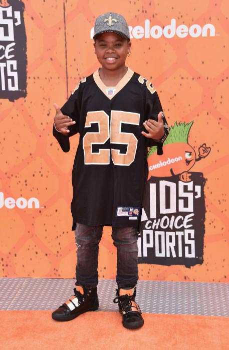 Benjamin Flores at the Nickelodeon Kids' Choice Sports Awards 2016