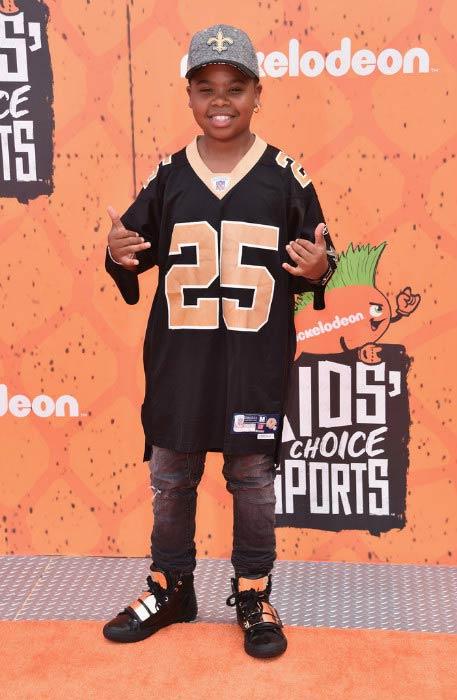 Benjamin Flores at the Nickelodeon Kids' Choice Sports Awards 2016