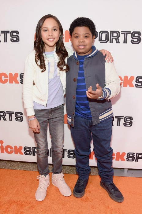 Benjamin Flores with Breanna Yde at the Little Ballers Documentary screening party in February 2015